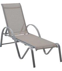 chaise buzios cinza tela cinza rivatti móveis - tricae