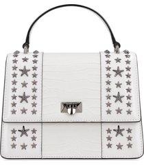 jimmy choo pyxis crocodile print leather handbag