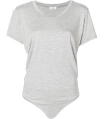 alix nyc essex short-sleeve bodysuit - grey