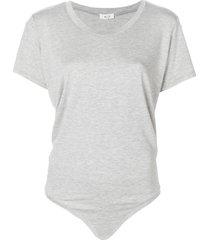 alix essex short-sleeve bodysuit - grey