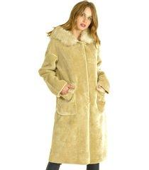 abrigo largo beige bou's