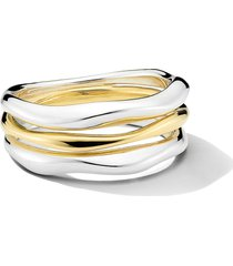 ippolita chimera classico triple band stack ring, size 7 in silver at nordstrom