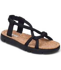 oruga sandal shoes summer shoes flat sandals svart camper