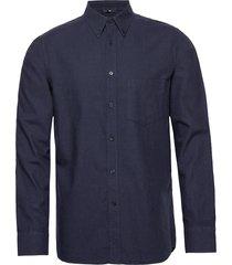 daniel bd-light flannel overhemd casual blauw j. lindeberg