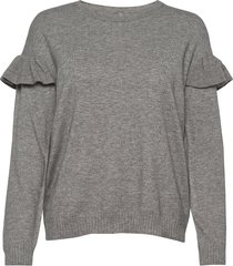 cudarin ck ruffle t-shirts & tops knitted t-shirts/tops grijs culture