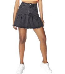 falda mini vuelos negro mujer corona