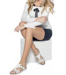 sandalia adulto femenino marketing personal 43279 blanco