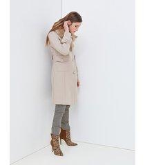 motivi cappotto lungo premium edition made with love donna beige