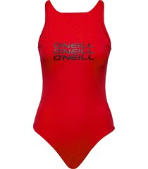 pw logo bathingsuit baddräkt badkläder röd o'neill