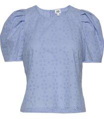 amber blouse blouses short-sleeved blå twist & tango