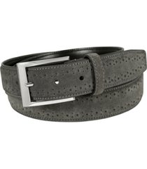florsheim lucky brogue suede belt