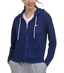 tommy hilfiger sport waffle-knit hoodie