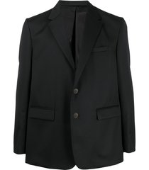 fumito ganryu pleated back blazer - black