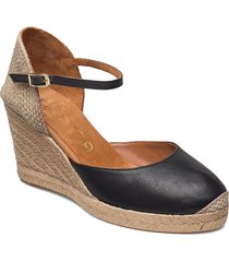 castilla_21_cre sandalette med klack espadrilles svart unisa
