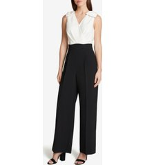 tahari asl sleeveless jumpsuit