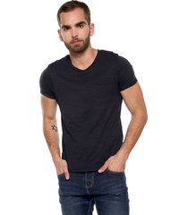 camiseta azul navy jack & jones
