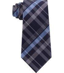 kenneth cole reaction men's crossline slim plaid tie