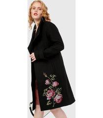 abrigo negro-multicolor desigual