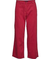 d1. cropped slim slouch vida byxor röd gant
