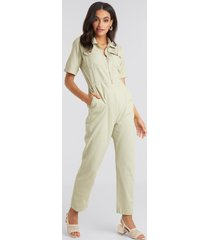 beyyoglu zip jumpsuit - green