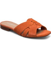 gin shoes summer shoes flat sandals orange pavement