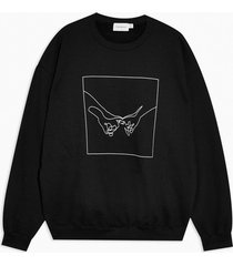 mens black hand sketch sweatshirt