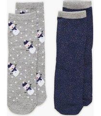 pieces pcsally lurex 2 pack socks if strumpor