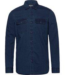 b.int worker shirt skjorta casual blå barbour