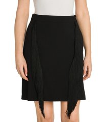 stella mccartney women's cady fringe stretch pencil skirt - black - size 36 (2)
