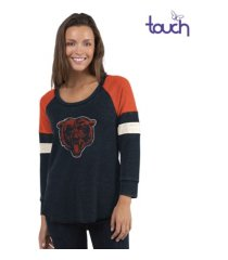 touch by alyssa milano chicago bears women's distinct snap thermal t-shirt