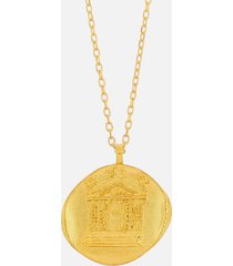 anni lu women's love necklace - gold