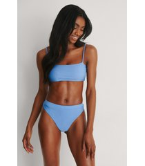 marije zuurveld x na-kd återvunnen bikinibyxa med hög midja - blue
