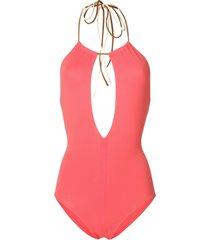 eres halter neck swimsuit - pink