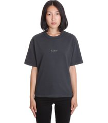 acne studios edie stamp t-shirt in black cotton