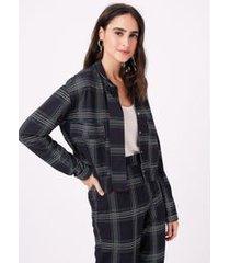casaco dinamic xadrez preto