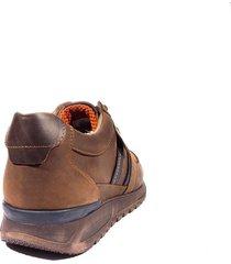 zapato sneaker para hombre san polos 3283 café