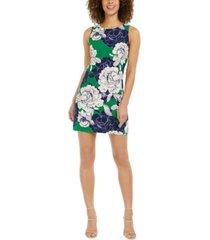 jessica howard petite sleeveless floral shift dress