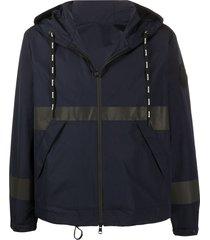 moncler hooded reflective jacket - blue