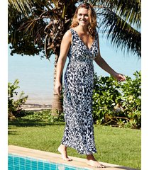 singita leopard print maxi dress