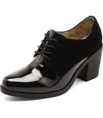 zapato para dama tellenzi oxford - negro