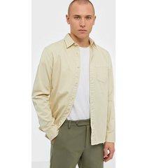 selected homme slhregjeppe overshirt ls w skjortor ljus gul