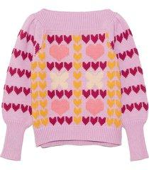 gizela pullover in warm heart multi
