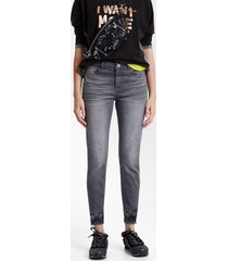 boho denim trousers - black - 46