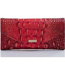 brahmin veronica melbourne embossed leather wallet