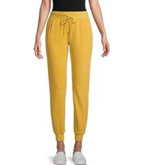 walter baker women's drawstring jogger pants - yellow - size l