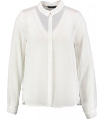 only geplooide blouse off white
