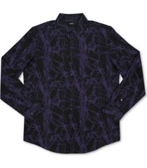 alfani men's abstract print woven shirt, created for macy's