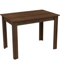 mesa madesa retangular para escritã³rio com tampo de madeira 5258b marrom - marrom - dafiti