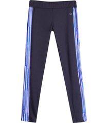 leggings sport corte en costado azul color azul, talla xs