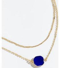 angela semi precious layered necklace - cobalt